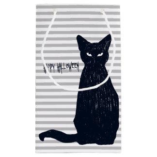 Halloween Black Cat Silhouette Small Gift Bag