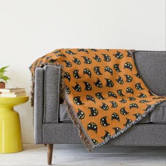 Halloween Black Cat Throw Blanket