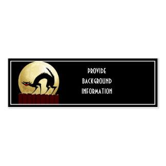 Halloween Black Cat w/Full Moon Business Card Template