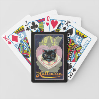 Halloween Black Cat Witch Charm Spell Vintage Bicycle Playing Cards