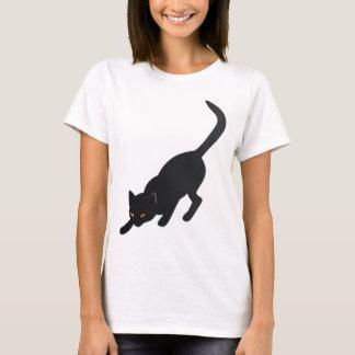 Halloween Black Cat Woman's T-Shirt