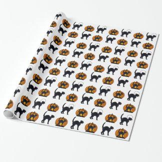 Halloween Black Cats & Pumpkins