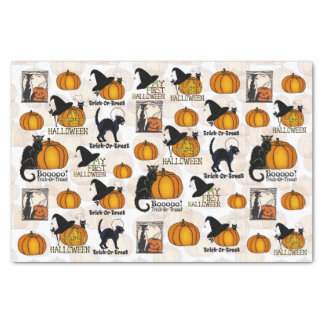 Halloween Black Cats, Pumpkins, & Witch's Hats #3 Tissue Paper