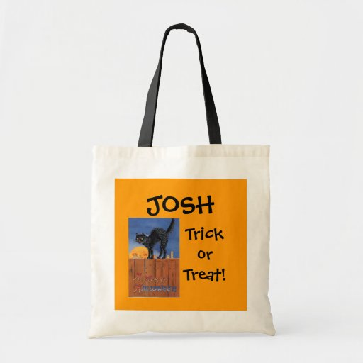 Halloween Black Cats Trick or Treat- Bag Tote