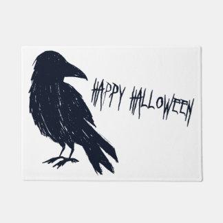 Halloween Black Crow Silhouette Doormat
