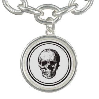 HALLOWEEN Black Gothic Skull Design Charm Bracelet