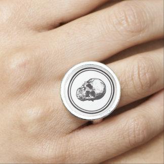 HALLOWEEN Black Gothic Skull Design Ring