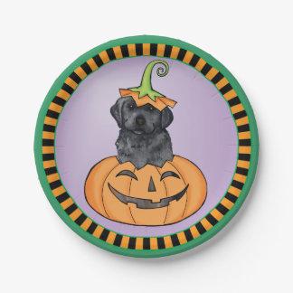Halloween Black Lab Paper Plate