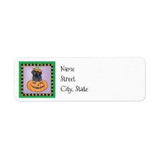 Halloween Black Lab Return Address Label