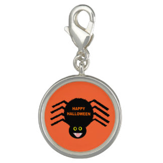 Halloween Black Spider Charm