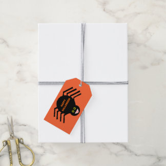 Halloween Black Spider Custom Gift Tags