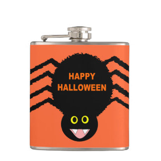 Halloween Black Spider Flask