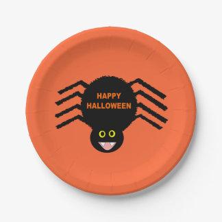Halloween Black Spider Paper Plate