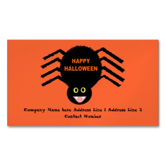 Halloween Black Spider Personalized Magnetic Business Card