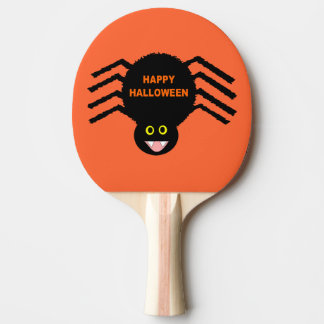 Halloween Black Spider Ping Pong Paddle