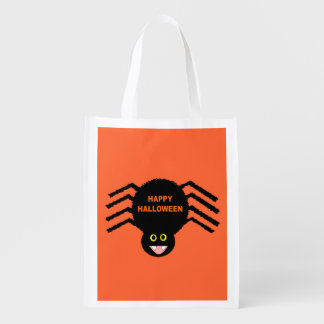 Halloween Black Spider Reusable Bag