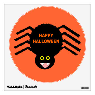 Halloween Black Spider Wall Decal