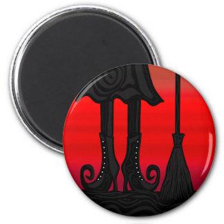 Halloween black witch magnet