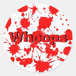 Halloween Blood Splatter Classic Round Sticker