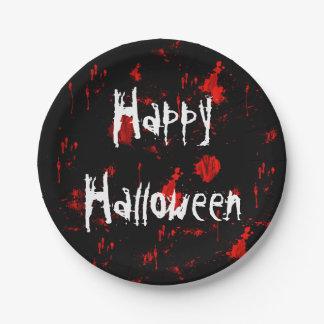 Halloween Blood Splatter Paper Plate