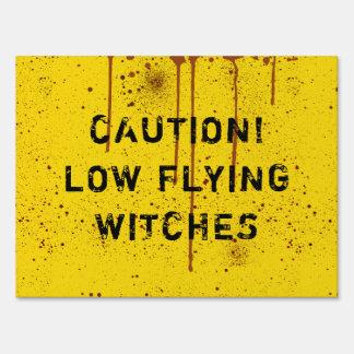 Halloween Blood Splattered Caution Yard Sign