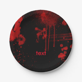 Halloween Blood Splatters Costume Party 7 Inch Paper Plate