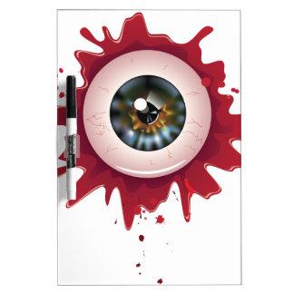 Halloween Bloody Eyeball3 Dry Erase Whiteboards