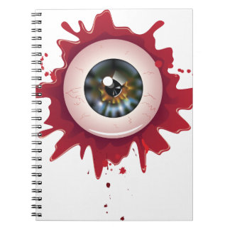 Halloween Bloody Eyeball3 Spiral Note Book