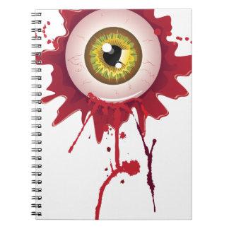 Halloween Bloody Eyeball Notebook