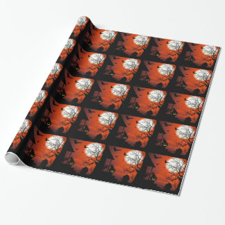 Halloween Bloody Moonlight NightmareWrapping paper