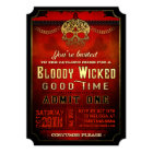 Halloween Bloody Wicked Red & Gold Party Invite