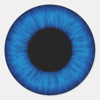 Halloween Blue Eye Close Up Round Sticker