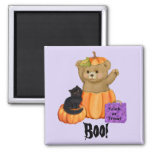 Halloween Boo Bear Square Magnet