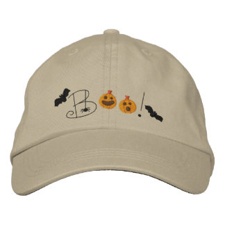 Halloween Boo Embroidered Hat