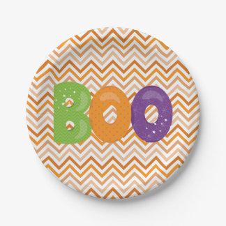 Halloween Boo Paper Plate