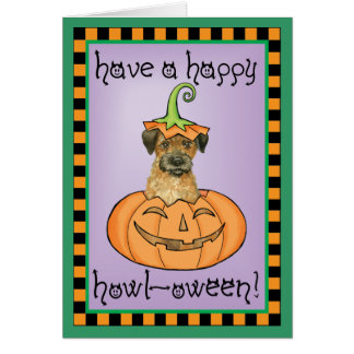 Halloween Border Terrier Card