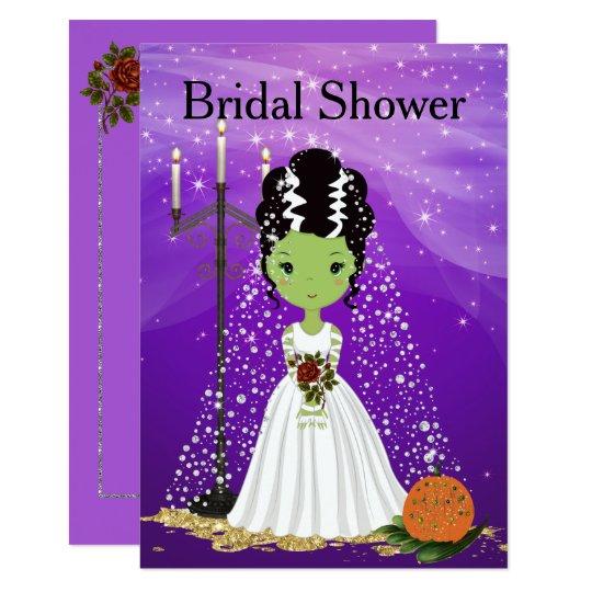 Halloween Bridal Shower Invitation Frankenstein