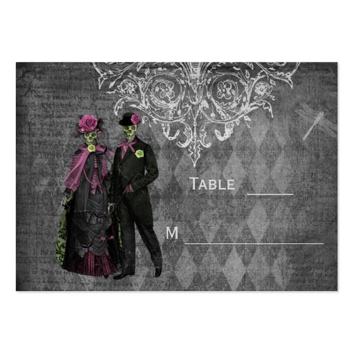 Halloween Bride & Groom Wedding Guest Place Cards Business Card Templates