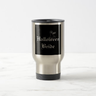 Halloween Bride with Ghost 15 Oz Stainless Steel Travel Mug