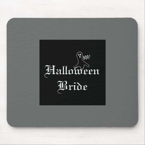 Halloween Bride with Ghost Mousepads