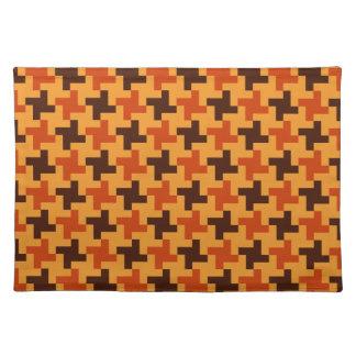 Halloween Brown Bricks Pattern on Yellow Placemat