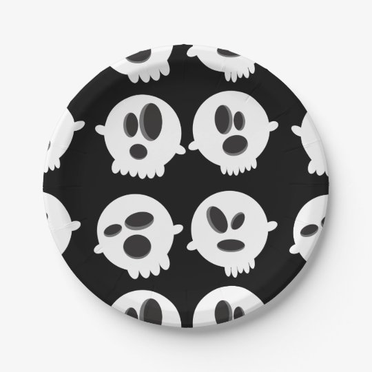 Halloween Bubble's of Ghost Paper Plates 7 Inch Paper Plate