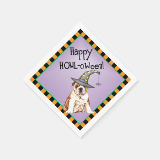 Halloween Bulldog Disposable Napkins