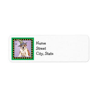 Halloween Bulldog Return Address Label