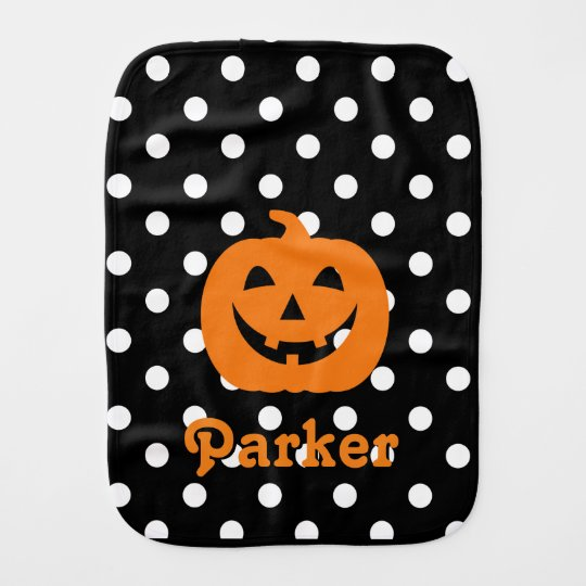 Halloween Burp Cloth Pumpkin Burp Cloth