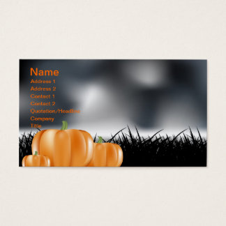 Halloween Business Card