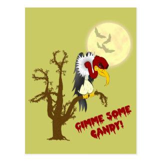 Halloween Buzzard Recipe Card Postcard