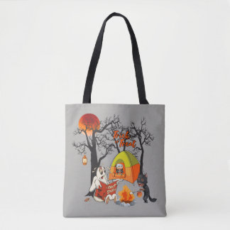 Halloween Camping Trip Ghost Stories Tote Bag