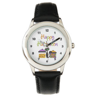 Halloween Candy Black Cat Watches