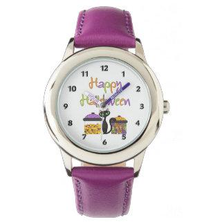 Halloween Candy Black Cat Wrist Watch